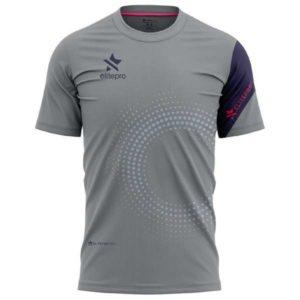 camiseta padel hombre gris