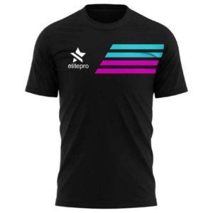 Camiseta padel hombre lines negro
